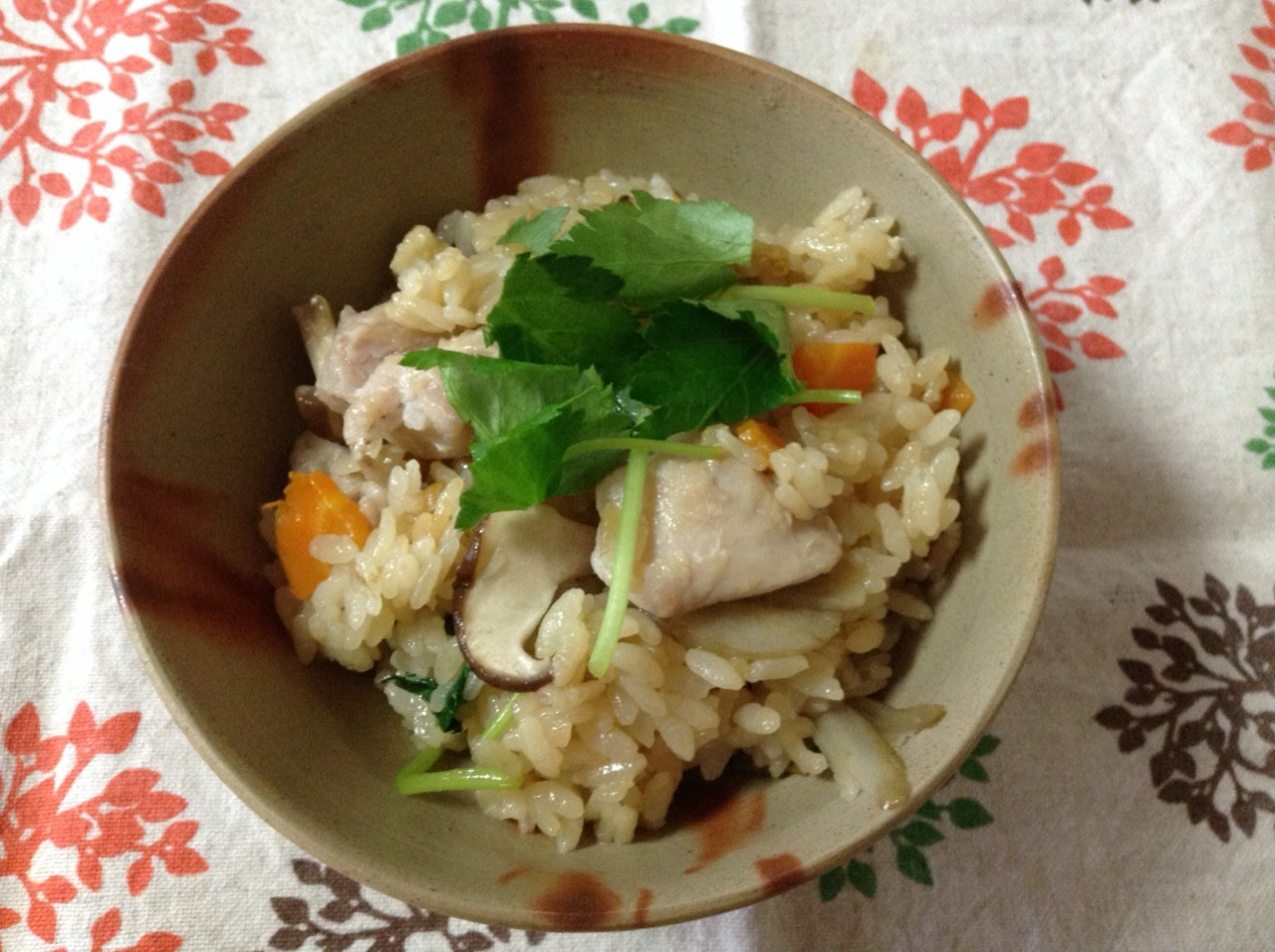 塩糀鶏の炊き込み