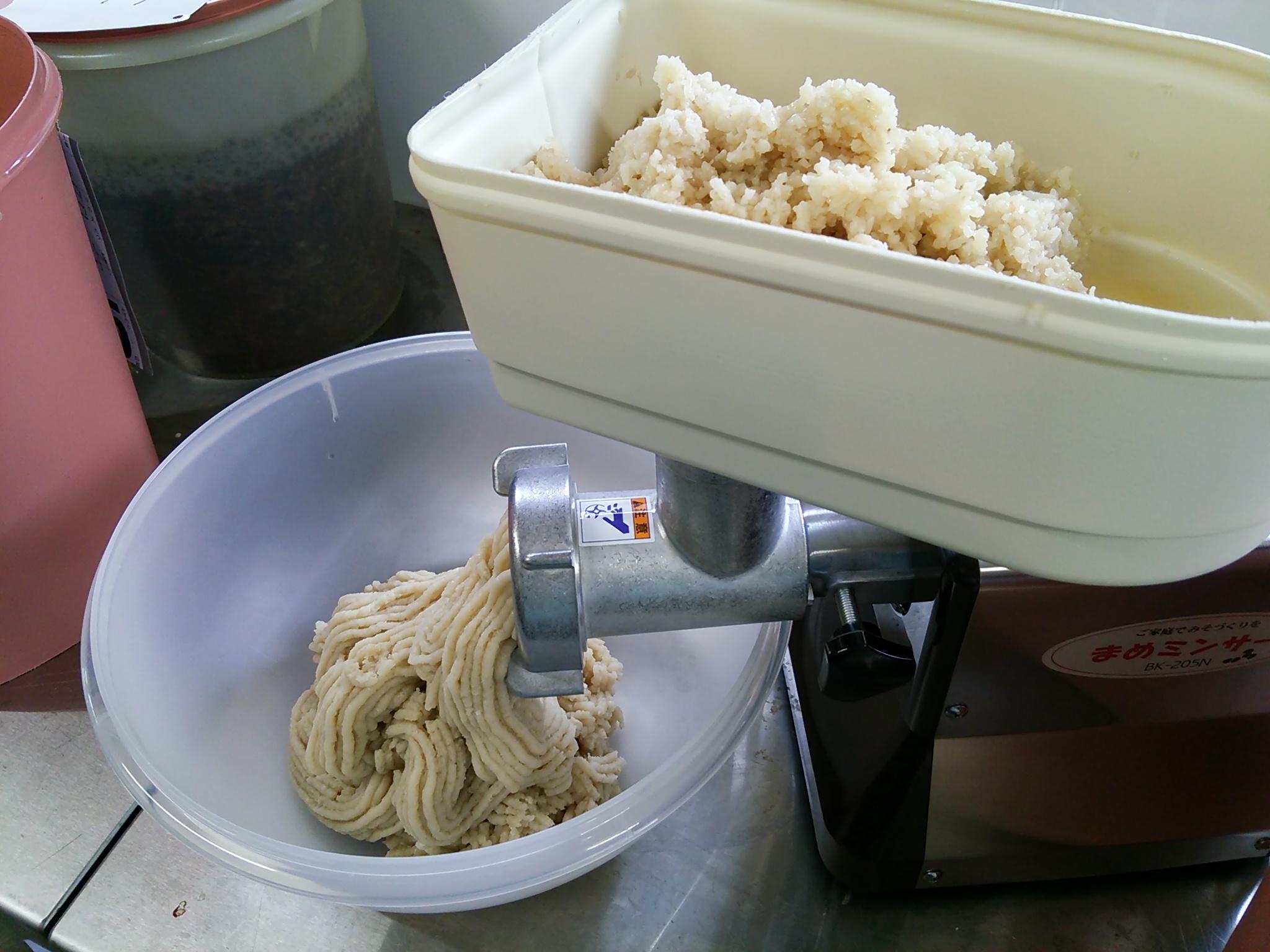 新しい機械で白味噌を♪