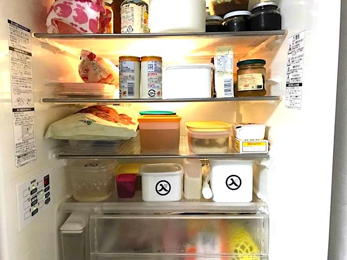 味噌のホウロウ容器を冷蔵庫収納