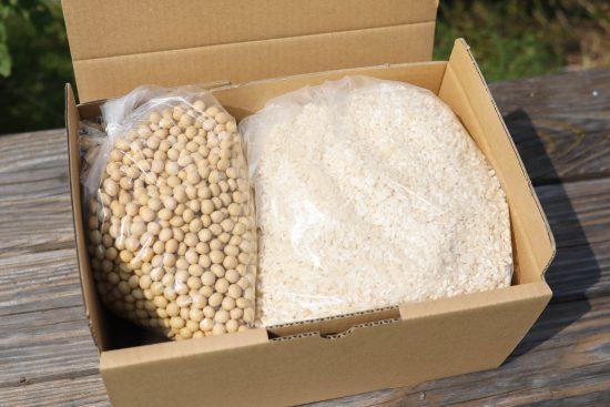 手作り味噌セット(梱包)|井上糀店