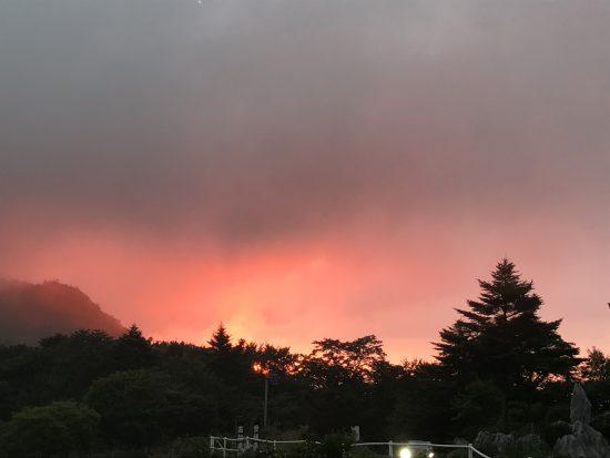 天狗高原の夕焼け