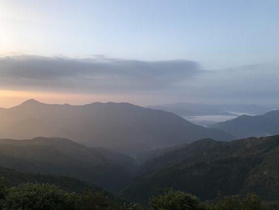 天狗高原の朝焼け