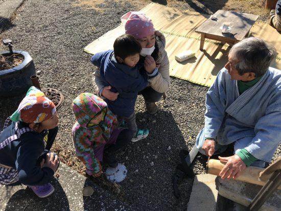 井上糀店の餅つき大会