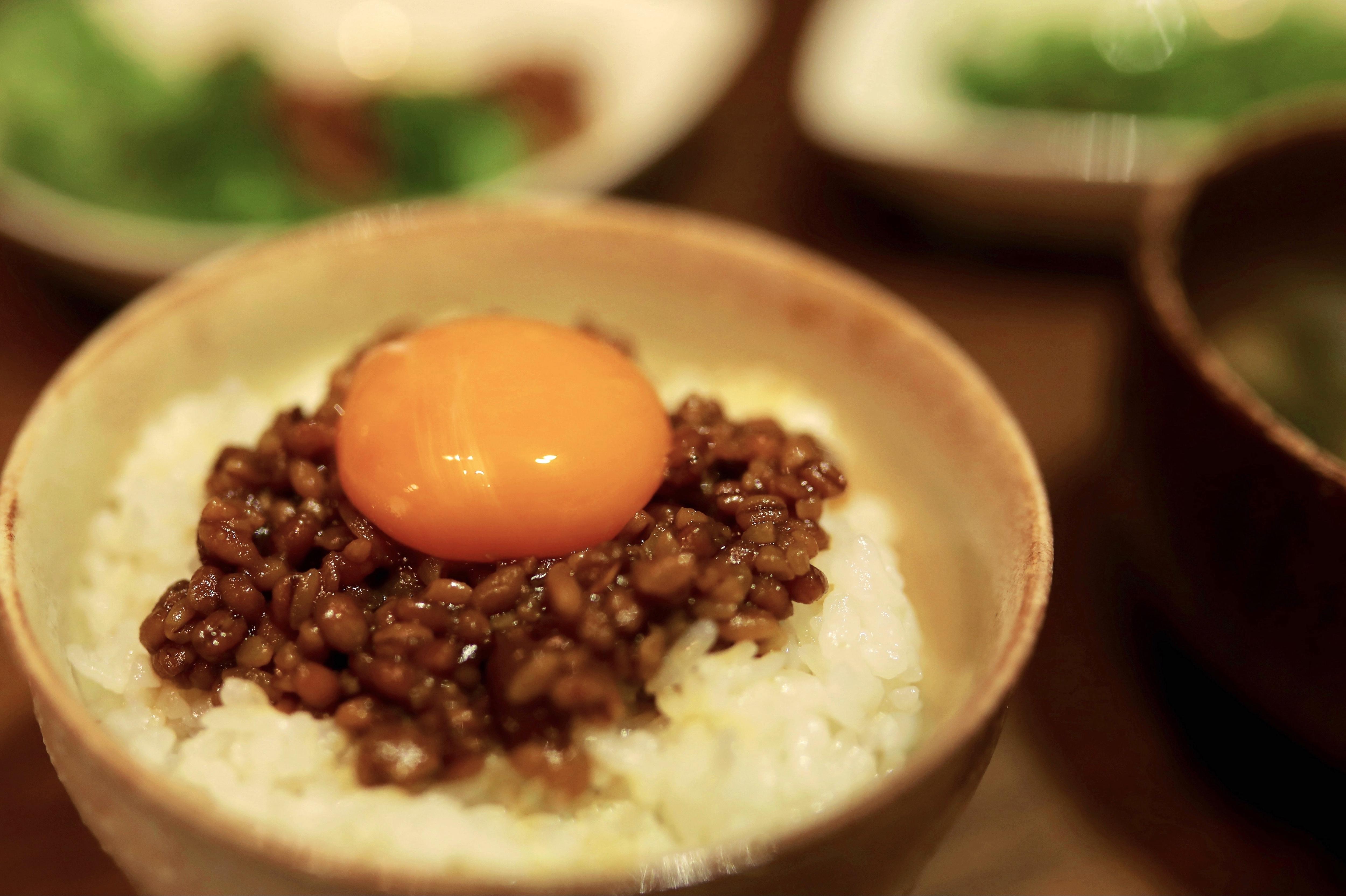 もろみ味噌の卵かけご飯