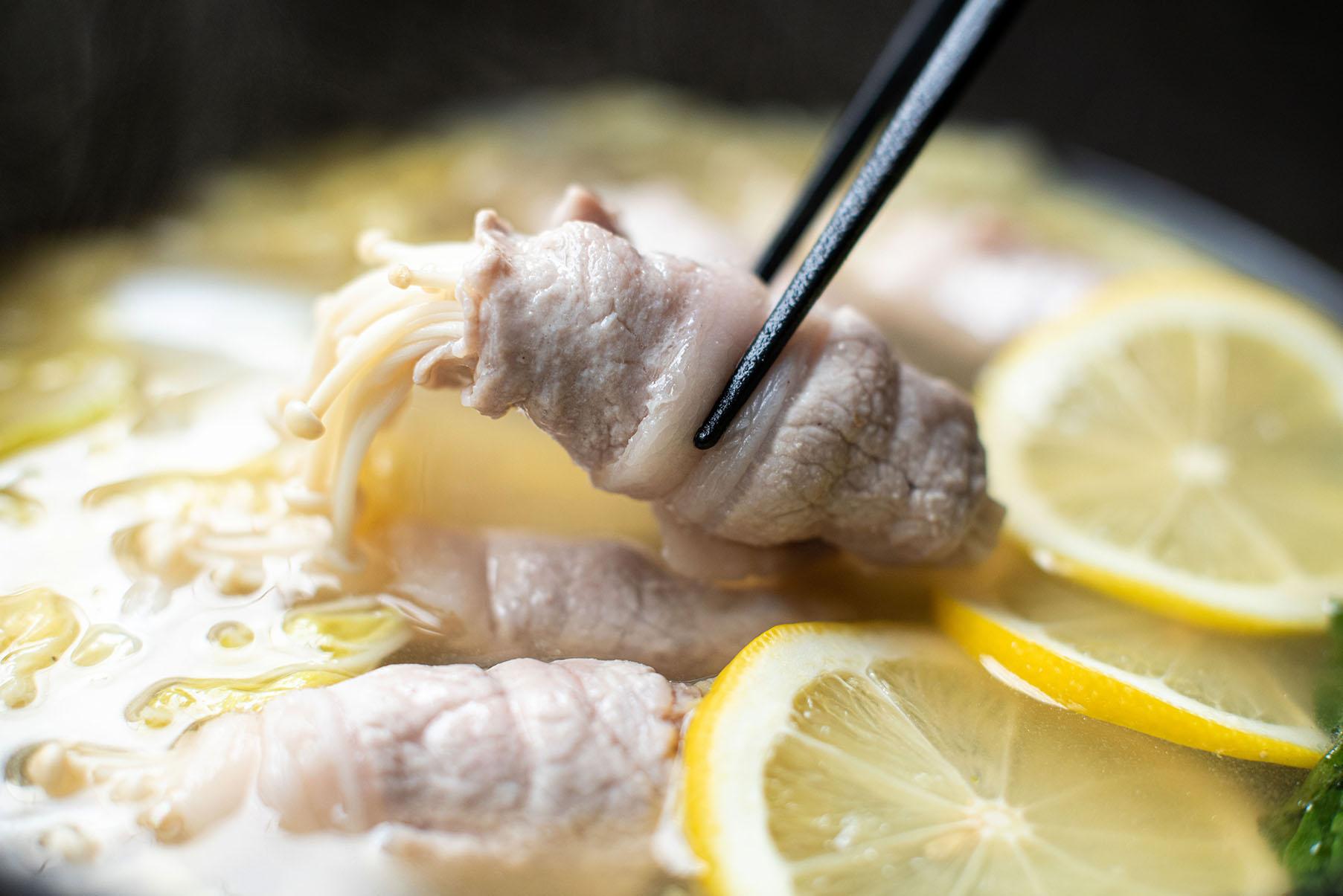 塩糀レモン鍋